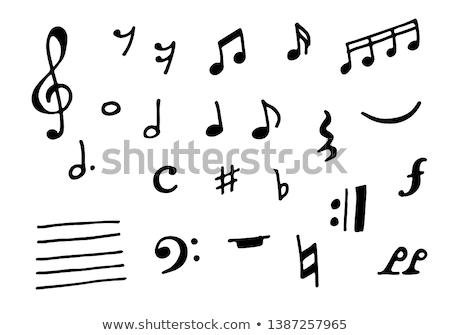 Draw a sixteenth note Stock photo © Olena