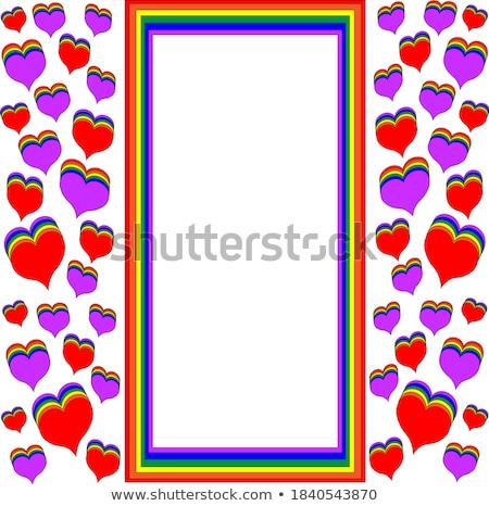 Rainbow colorato cuore carta vettore sketch Foto d'archivio © Sonya_illustrations