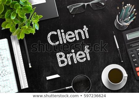 Zwarte schoolbord 3D top Stockfoto © tashatuvango