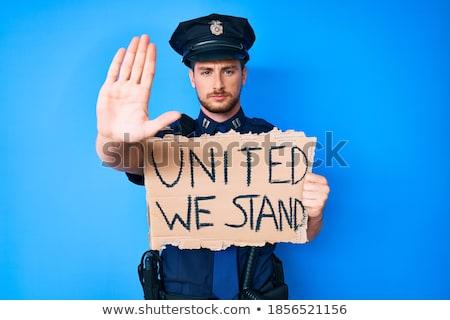 Policjant stop gest ruchu Zdjęcia stock © RAStudio