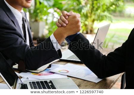 Personnes bon attitude travail femme bureau Photo stock © IS2
