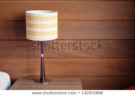 Vintage lâmpada noite tabela quarto de hotel retro Foto stock © stevanovicigor