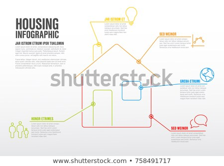 Thinline housing infographic template Stock photo © orson