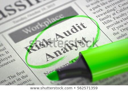 We are Hiring Risk Audit Analyst. 3D. Stock photo © tashatuvango