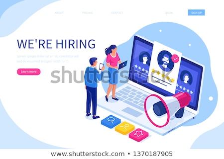 recrutamento · gerente · agora · 3D · jornal · trabalho - foto stock © tashatuvango