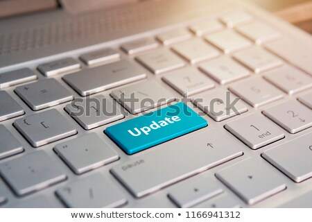 Stock photo: Blue Application Development Button on Keyboard.
