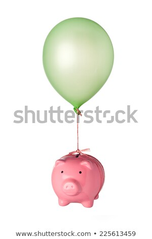 piggy bank tied to balloons Stock photo © IS2