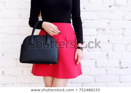 молодые · кавказский · белый · женщину · сумочка - Сток-фото © rastudio