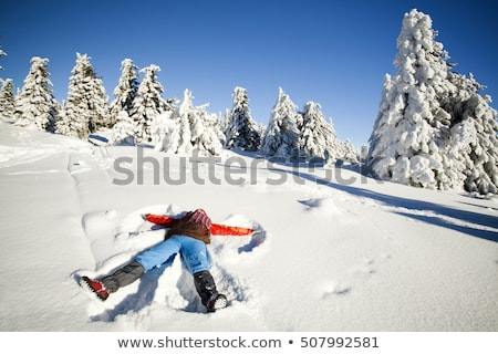 Young woman lays in snow Stock photo © IS2