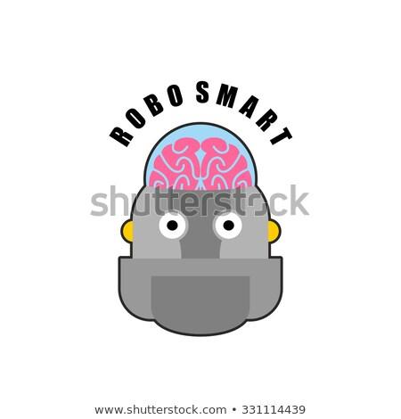 Smart robot. Emblem of Biomechanics of  human brain. Logo for in Stock photo © popaukropa