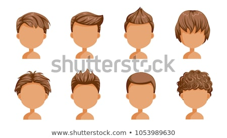 Boy with Medium Length Hair Isolated Illustration Stock photo © robuart
