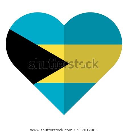 Bahamák · szív · zászló · vektor · kép · papír - stock fotó © Amplion