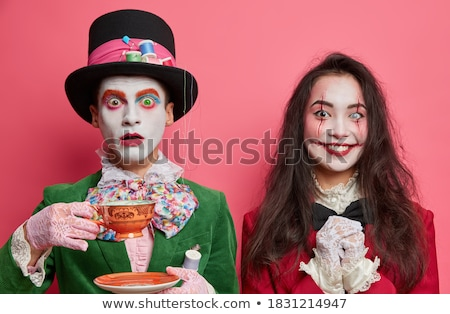 Man and woman going to Halloween party Stock photo © IS2