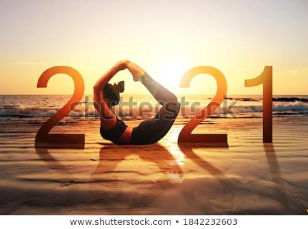 calme · brunette · yoga · corps · fitness · beauté - photo stock © is2