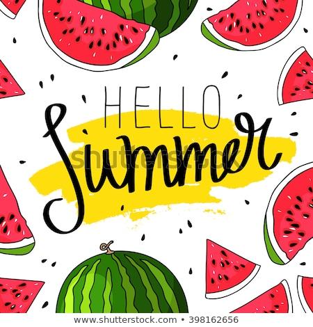 Ciao estate anguria rosso moda Foto d'archivio © ikopylov