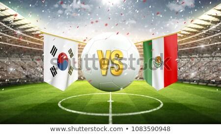 Football match South Korea vs. Mexico Stock photo © Zerbor