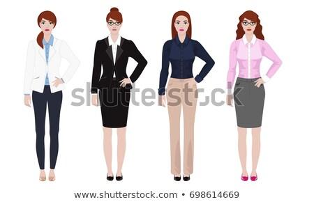 Különböző nők hivatalos divatos fiatal nő kettő Stock fotó © ichiosea
