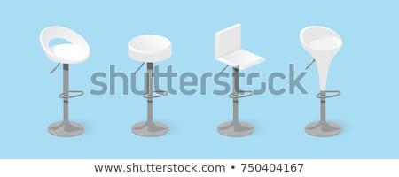 bar chair stool set icons vector illustration Stock photo © konturvid