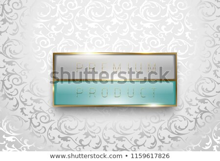 Prémium termék fény szürke zöld címke Stock fotó © Iaroslava