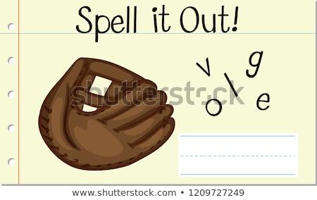 英語 言葉 手袋 実例 学校 芸術 ストックフォト © bluering