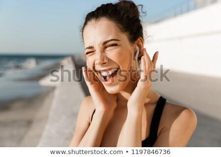 heyecanlı · genç · sahil - stok fotoğraf © deandrobot
