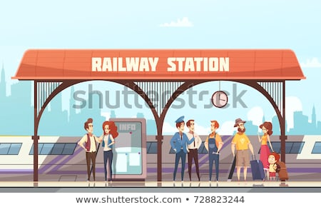 Train Conductor Banner Stock photo © cthoman