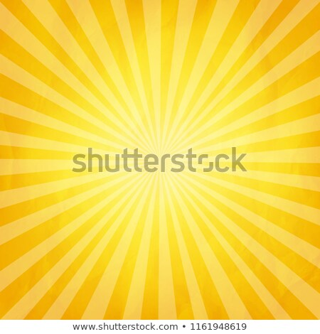 Crumpled Yellow Paper With Sunburst- Stock photo © barbaliss