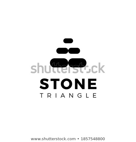 Preto pedra triângulo forma ícone vetor Foto stock © blaskorizov