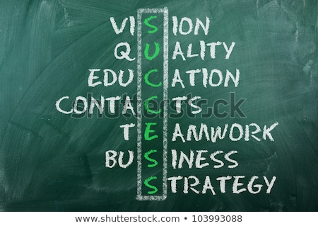 vision crossword concept handwritten on blackboard stock photo © ivelin