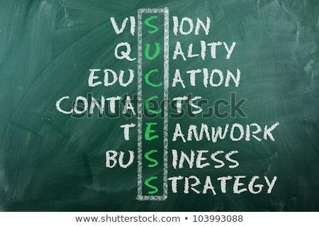 Vision Crossword Concept Handwritten On Blackboard Stock photo © ivelin