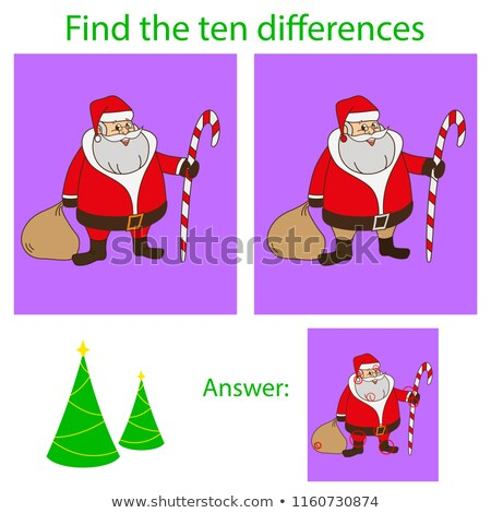 find differences with santa claus characters stock photo © izakowski