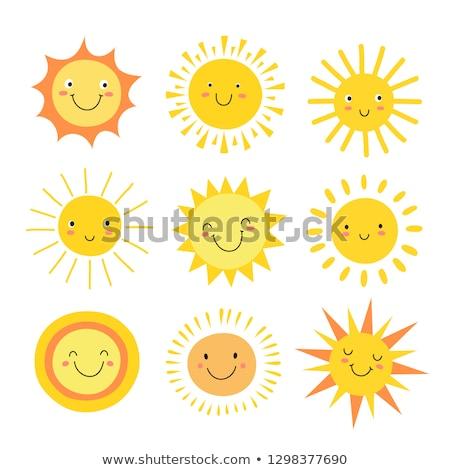 Sorrir cara bonitinho amarelo estrela isolado Foto stock © Lady-Luck