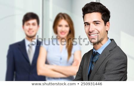 Três negócio homem trabalhar empresário Foto stock © Minervastock