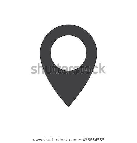 Pin icon map pointer vector icon isolated Illustration Stock photo © NikoDzhi