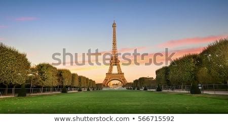 Gyönyörű naplemente Eiffel-torony folyó Párizs Franciaország Stock fotó © vapi