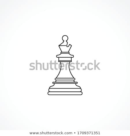 Wooden chess bishop Stock photo © bdspn