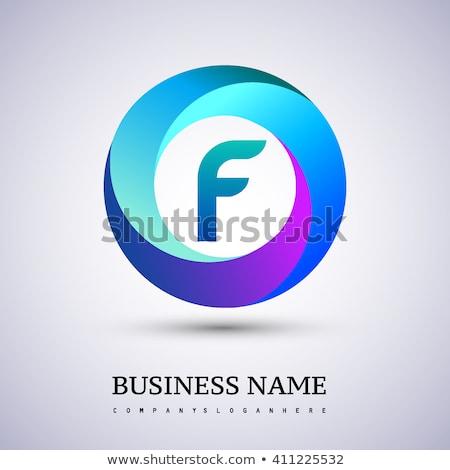 colorful circle logo business sign tech element Stock photo © blaskorizov