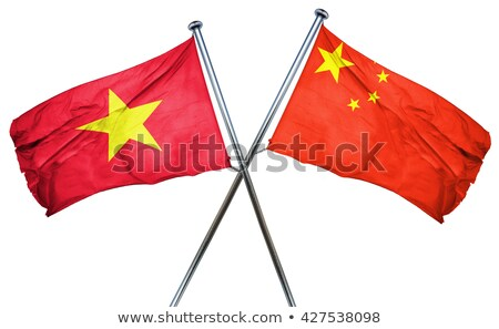 Two waving flags of China and vietnam Stock photo © MikhailMishchenko