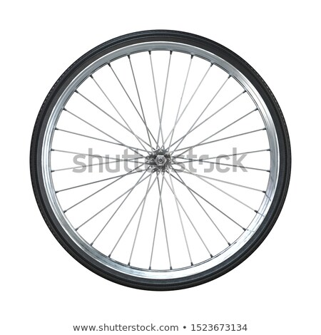 bicycle closeup bike with wheels isolated icon stock photo © robuart