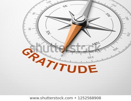Compass on White Background, Gratitude Concept Stock photo © make