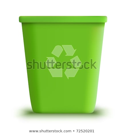 Green recycle bin 3D Stock photo © djmilic