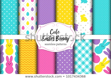 easter seamless pattern with eggs stock photo © artspace