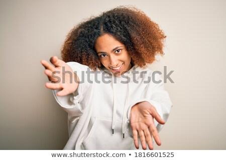 Portré afro amerikai boldog fiatal sportoló Stock fotó © deandrobot