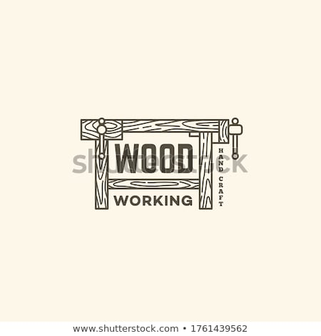 Carpenter with wood and tools Stock photo © colematt