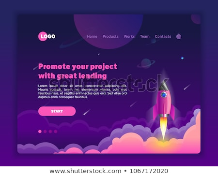 Space technology concept landing page. Stock photo © RAStudio