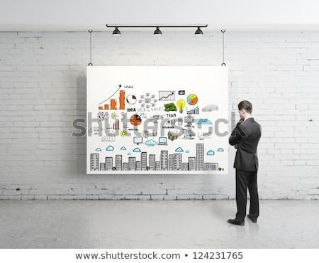 Бизнес-стратегия плакат бизнесмен семинара исполнительного Сток-фото © robuart
