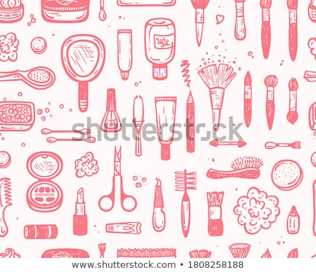 Makeup and Visage on Face Manicure Set Vector Stock photo © robuart