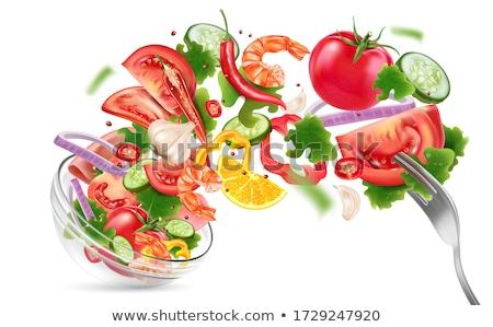 Kırmızı biber domates örnek pembe beyaz Stok fotoğraf © ConceptCafe