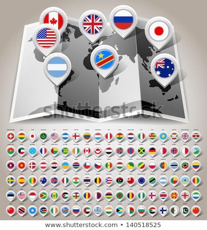 Canadá · mapa · vetor · colorido · abstrato · viajar - foto stock © kyryloff