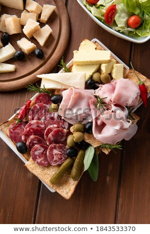 Cold cuts and cheese plate Stock photo © grafvision